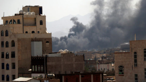Saudi Coalition Launches Airstrikes on Houthi-Held Areas in Yemen